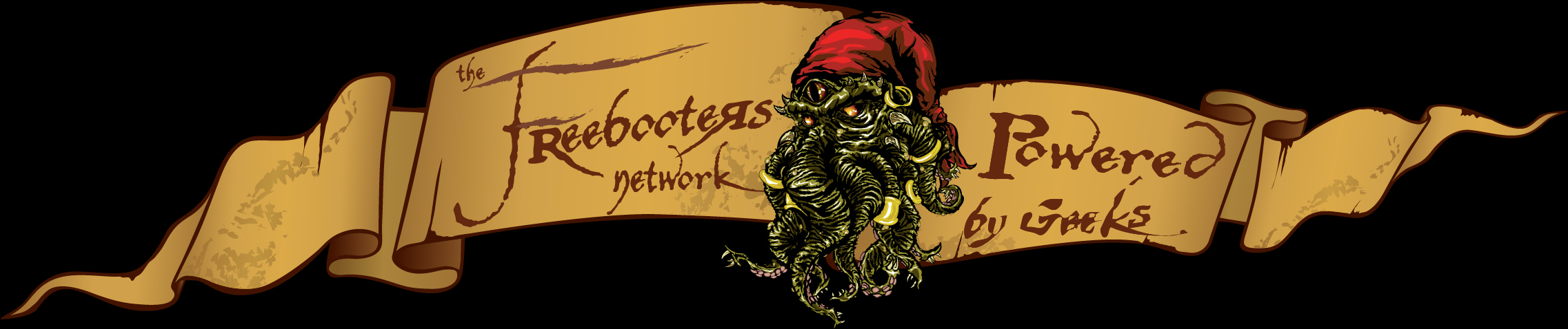 Logo for The Freebooters Network - Podcasts powered by geeks